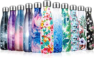 Lalafancy 17oz Insulated Water Bottle Double Wall Vacuum Stainless Steel Sport Drinks Bottle BPA Free Leak Proof Keeps Hot and Cold for Gym Travel School