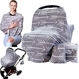 غطاء قابل للتمدد لإرضاع الأطفال متعدد الاستخدامات يمكن استخدامه كوشاح للرضاعة ومظلة وغطاء لمقعد السيارة ومناسب كهدية للأمهات
