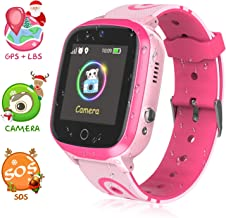 Kid Smart Watch Phone, WiFi/GPS/Lbs Waterproof Smartwatch HD Touch Screen SOS Call Camera Games Alarm Clock Anti Lost Smartwatches with Games for Children Students Learning Toys
