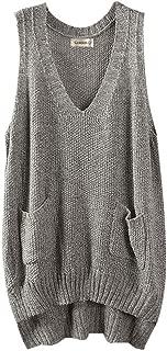 Gordon Q Women's Casual V-Neck Knit Cotton Vest