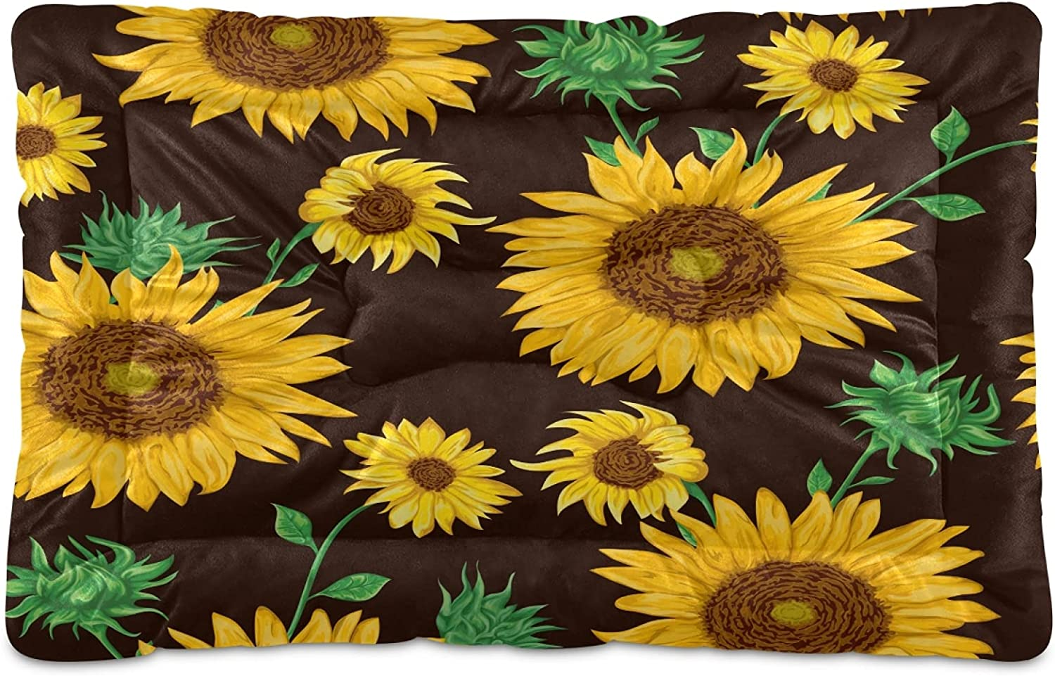 Limited price sale Soft Pet Dog Cat Bed Mat Paw Sunflowers Cute Print with Por Phoenix Mall