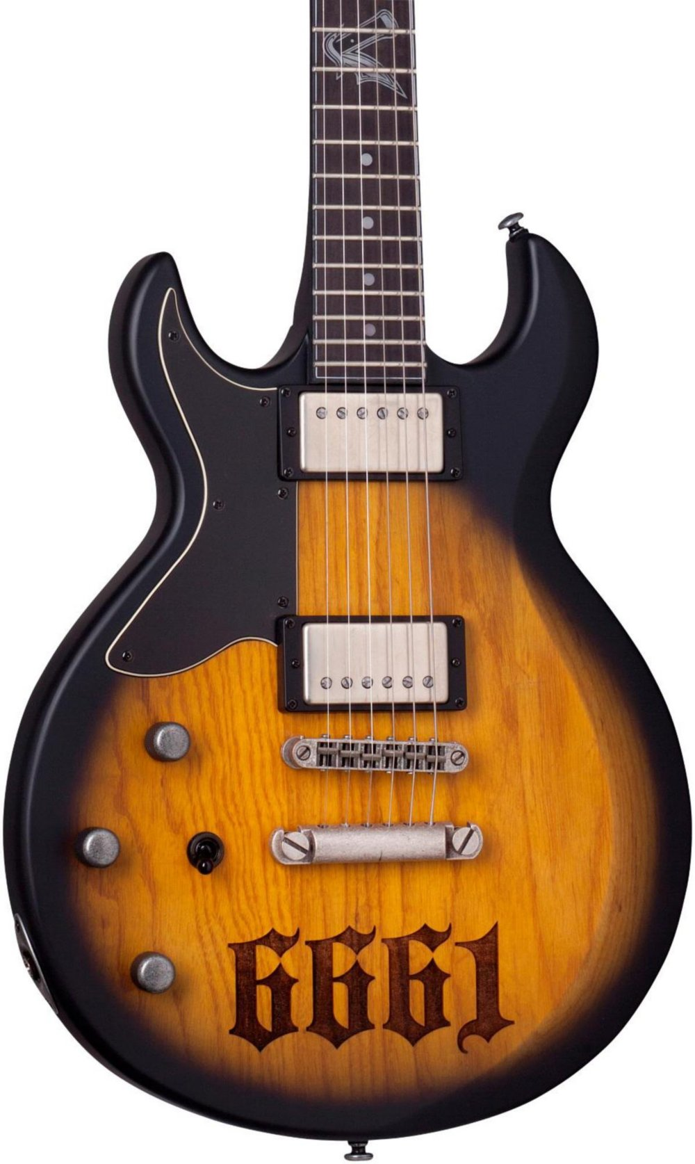 Cheap Schecter Guitar Research Zacky Vengeance S-1 6661 Left-Handed Electric Guitar Aged Natural Satin Black Burst Black Friday & Cyber Monday 2019