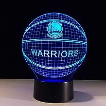 Basketball Warriors NBA Logo Golden State Led 3D Night Light 7 Colors Changing Table Desk Lampe Lamp Bedroom Sports Fans Decor