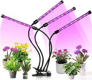 JORAGO Led Grow Light Full Spectrum LED Growing Light for Indoor Plants, 3 Switch Modes & Timing Function(Black)