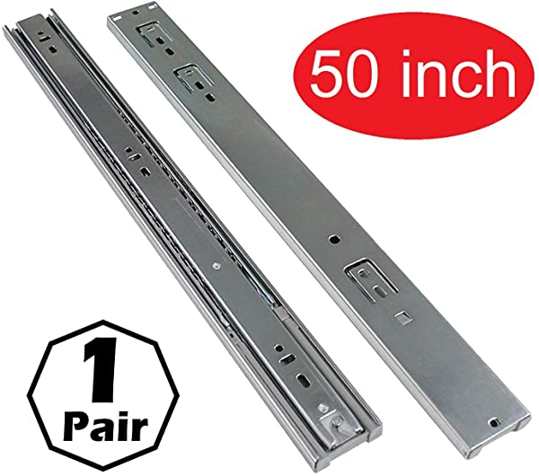 Firgelli Automations Full Extension Drawer Slides 400 Lb Capacity 50