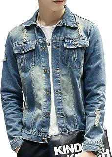 CBTLVSN Men's Denim Jacket Jean Coat Trucker Work Heavyweight Casual Wear