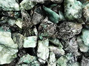 Fantasia Materials: 1 lb Unsearched Emerald Mine Run Rough Stones from Brazil