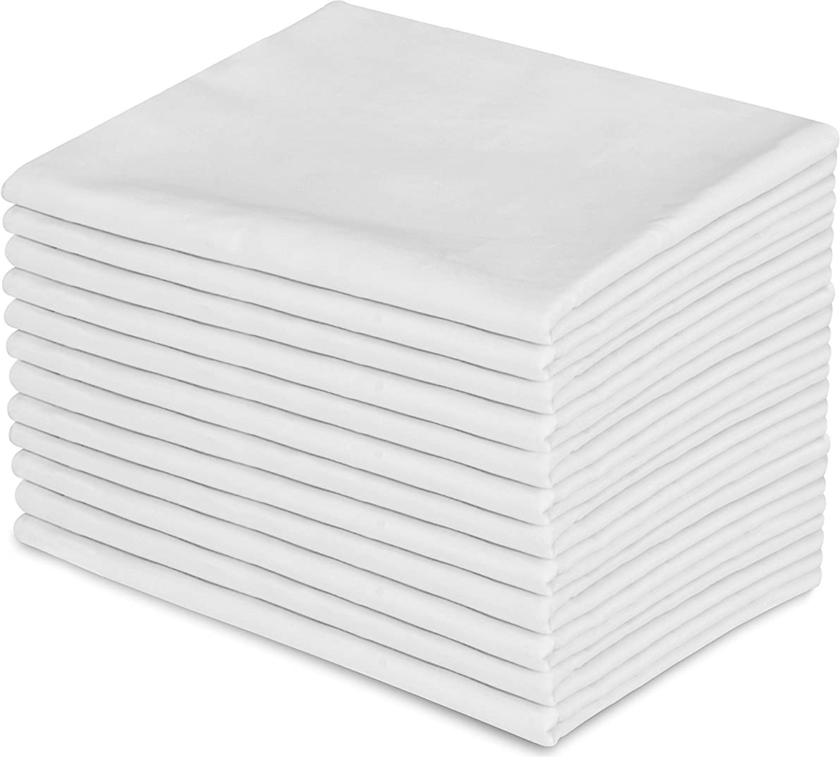 White Pillowcases, Standard Size, 42 x 34 T-180 Percale, 12-Pack (12)