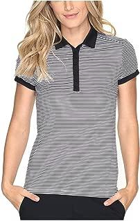 Nike Women's Victory Stripe Dri-Fit Polo-Black/White