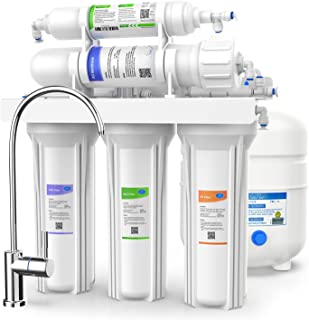 SimPure Reverse Osmosis System - 5 Stage RO Water Purifier with Faucet and Tank - Reverse Osmosis Water Filtration System - Ultimate Water Softener - Removes Upto 99% Impurities - 75 GPD