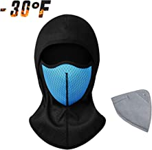 Balaclava Face Mask for Cold Weather Windproof Snowboarding Ski Mask Activated Carbon Dust Mask for Cycling, Road Bike, Motorcycle, Skiing