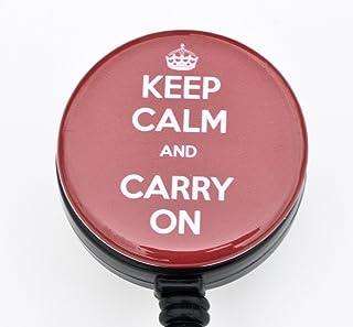 Keep Calm And Carry On 3,2cm porte-badges/Retractable badge Bobine/badge d'identification essuie-tout Solo porte-badges o...