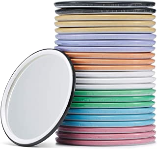 Compact Mirror Bulk Round Makeup Glass Mirror for Purse Great Gift 2.5 Inch 8 Colors Pack of 24