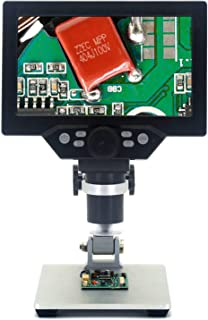 Emebay – 7 Inch HD LCD Digital Microscope Built-in Rechargeable Battery, 12MP Electronic Video Microscopes, Microscope Soldering Tool with Metal Stand