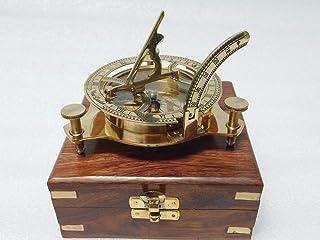 KHUMYAYAD 3 inch messing kompas zonnewijzer maritiem nautisch vintage antiek nautisch zonnewijzer kompas