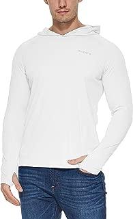 Men's UPF 50+ Sun Protection Hoodie Long Sleeve Performance Hiking/Fishing T-Shirt