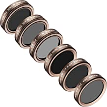 Neewer 6 Pieces Lens Filter Kit for DJI Phantom 4 Pro, Multi-Coated, High Definition Glass and Aluminum Alloy Frame Includes: ND4/PL, ND8/PL, ND16/PL, ND8, ND16, and ND32 (Gold)
