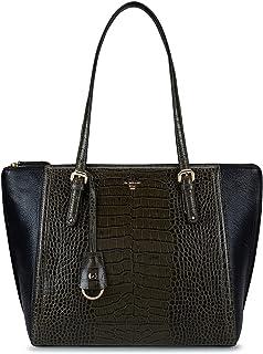 Da Milano Women's Textured leather Tote Bag