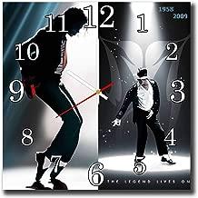 mV Michael Jackson 11.4'' Handmade Wall Clock - Get Unique décor Home Office – Best Gift Ideas Kids, Friends, Parents Your Soul Mates