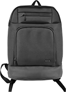 Promate Laptop Bag, 2-In-1 High-Capacity Travel 15.6 Inch Laptop Backpack with Adjustable Straps and Secure Storage, Accessories Organizer for Travel, Hiking, Work, Business, Vertex-BP Black