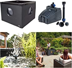Outdoor Aquarium, Instant Water Garden Pond with Fountain Pump for Patio Terrace