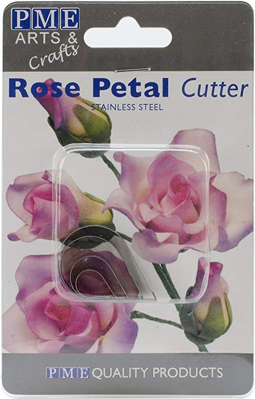 PME Sugarcraft Flower Cutter Set Rose Petal