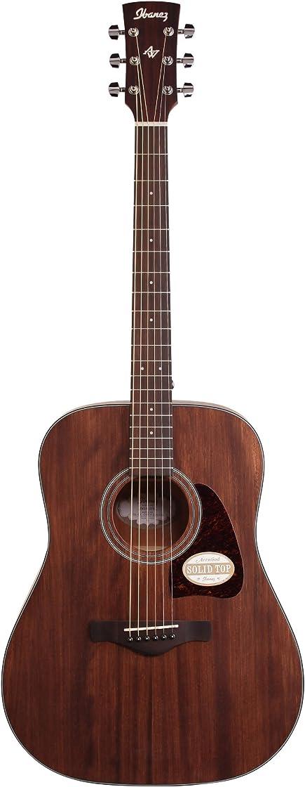 Chitarra acustica a pori aperti, colore naturale ibanez aw54opn artwood dreadnought