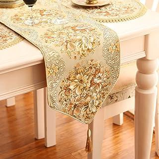 Europäisches Luxus-Goldstickerei-Tuch Restaurant-Tabellen-Flaggen-Bett-Flagge Chinesisches Wohnzimmer-Kaffeetisch-Flagge,A1