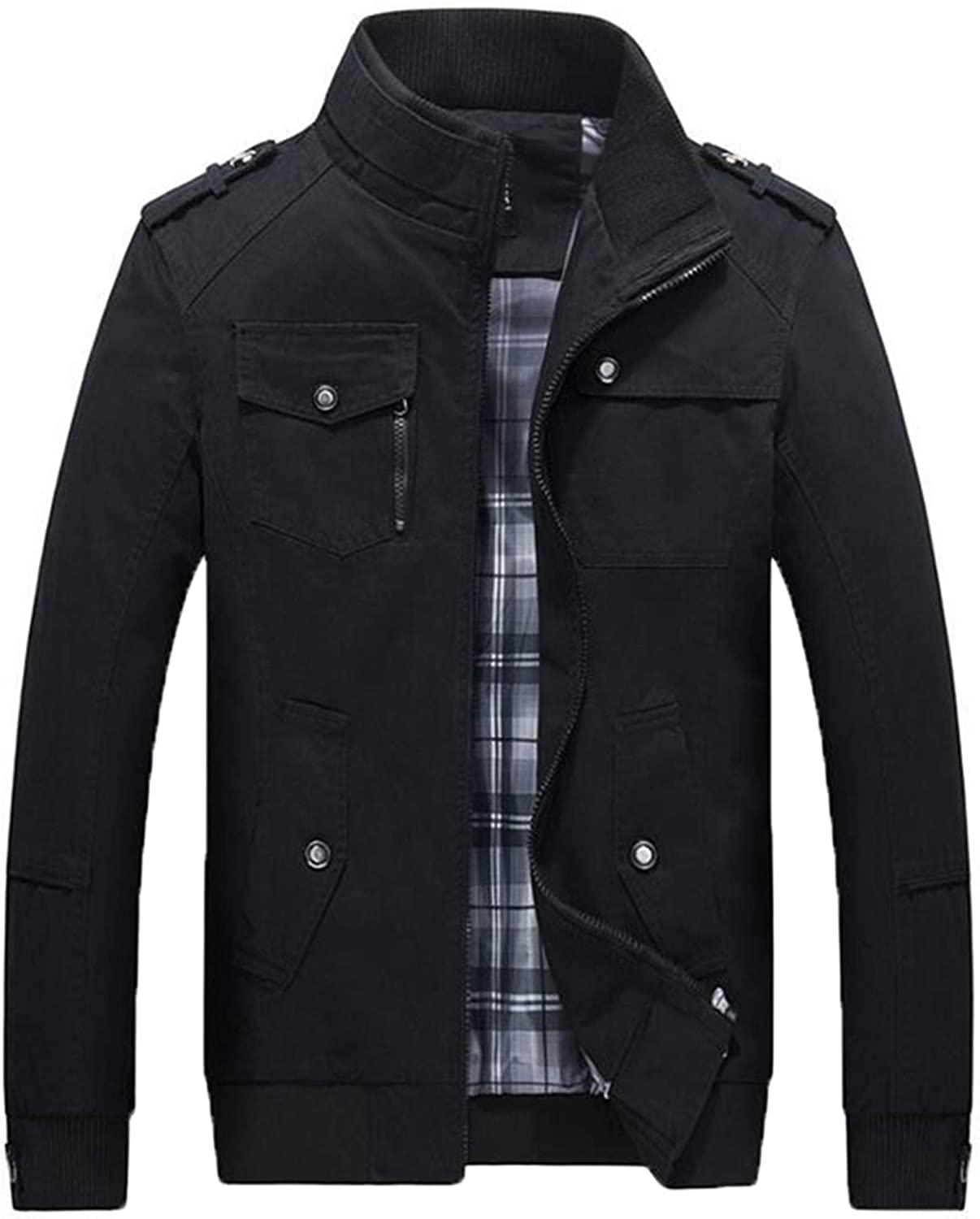 Allonly Men's specialty shop Fashion Stand Collar Sleeve Popular brand Cotton Long Win Jacket