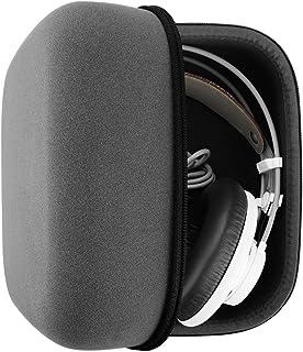 AKG Q701, K701, K702, K712, K550, Beyerdynamic Dt990, T1, Dt880pro, Sennheiser HD800, HD700, HD650, HD600, ATH W1000X, W3000ANV ヘッドホンキャリングケース / バッグ、ケーブル、 AMP、部品および付属品を収容する余地がある / Headphone Full Size Hard Carrying Case