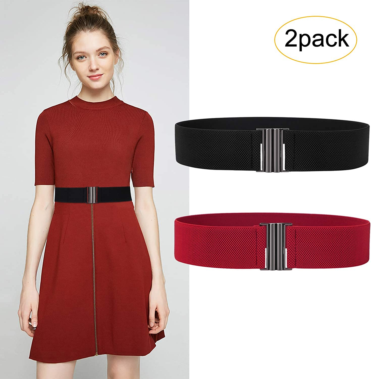 Elastic Belt For Women Invisible Adjustable No Show Ladies Stretch Belt by SUOSDEY