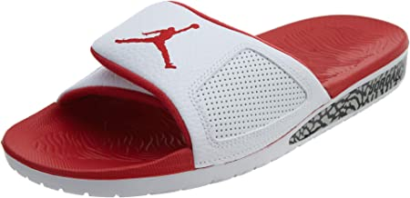 Nike Men's Air Jordan Hydro III Retro Slide White/Fire Red Fire (8 D(M) US)