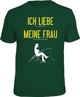 T-Shirt für Angler und Fischer: Ich Liebe Meine Frau…Das ideale Männer Geschenk