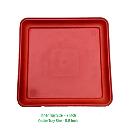 VGreen Garden Squire Bottom Trays (Set of 5 Pcs) Brown Color (7 Inch Inner Size)