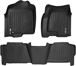 MAXLINER Floor Mats Liner Set Black for 1999-2007 Silverado/Sierra 1500/2500/3500 Crew Cab / 2000-2006 Cadillac/Suburban/Yukon XL/Avalanche