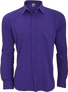 (ヘンブリー) Henbury メンズ 吸汗ドライ 抗菌 長袖ワイシャツ カッターシャツ ワークシャツ ビジネス 男性用