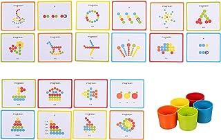 Toddmomy 1 Set Tellen Sorteren Cups Flash Kaarten Kleur Erkenning Stem Educatief Speelgoed Voorschoolse Leren Speelgoed Vo...