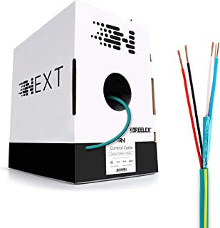 Next Keypad Wire for Lutron and Crestron Systems 18-2 + 22-2 Shielded - In Wall (CL2/CL3) Rated - 1000ft - Teal/Yellow