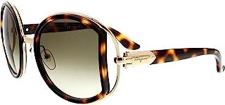 Salvatore Ferragamo SF719S 238 Womens Havana/Gold 52 mm Sunglasses