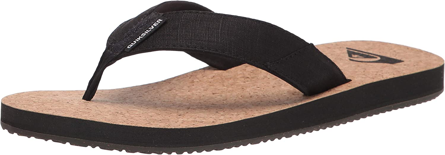 Quiksilver Men's Molokai Abyss Natural Flip-Flop 3 Max 78% OFF Sandal Manufacturer regenerated product Point