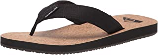 Quiksilver Men's 3 Point Sandal Flip-Flop, Black/Brown/Brown Molokai Abyss Natural, 8