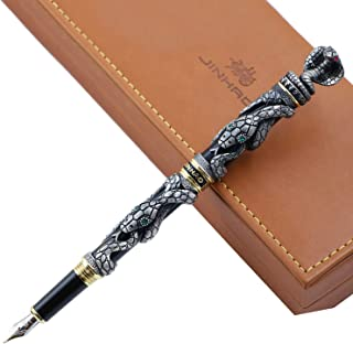 Jinhao Fountain Pen Snake 3D Cobra advanced Writing Ink Pens With Gift Box Set