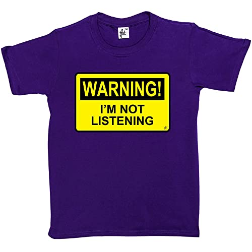 Fancy A Snuggle Warning Im Not Listening Kids Boys Girls T Shirt