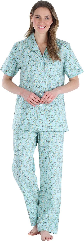 Sleepyheads Women's Super beauty product restock quality top! Sleepwear Poplin Cotton Button Sleeve Short Jacksonville Mall