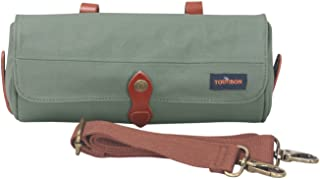 featured product TOURBON Waxed Canvas Bicycle Top Tube Bag Bike Handlebar Basket