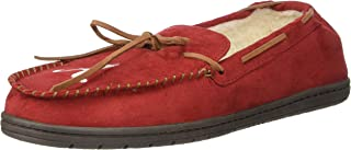 NCAA Mens Team Color Big Logo Moccasin Slippers