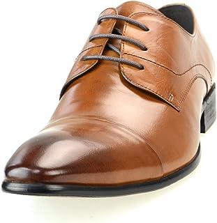 [ルシウス] ドレスシューズ 紳士靴 ビジネスシューズ ロングノーズ レースアップ 【AZ246B】