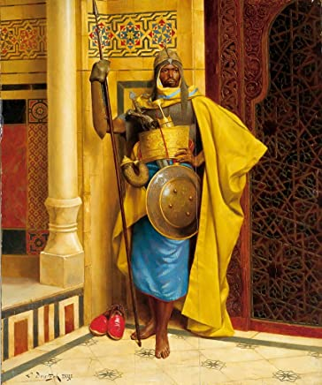 Hand Painted Art Paintings for Wall Decor - The Nubian Palace Guard Ludwig Deutsch Orientalism Araber - Decorative Oil Paintings on Canvas -Size05