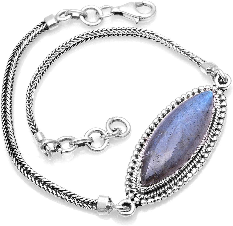 Silver Palace Sterling Natural Bracelete Soldering for Labradorite Recommended