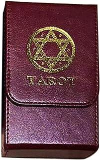 POHOVE Boîte à cartes de Tarot - Double couche - Anti-rayures - En cuir synthétique - Organiseur de rangement universel - ...